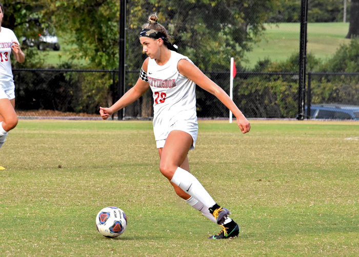 Freshman Faithe Korponay scored Huntingdon's goal in a 1-1 double overtime tie with Covenant on Friday.