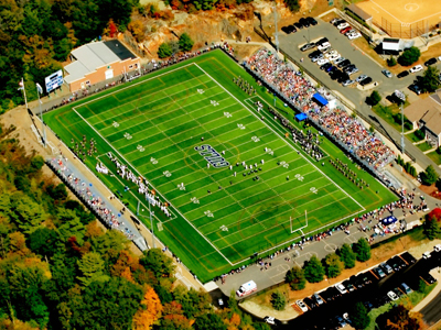 Aerial view of Hempstead Stadium