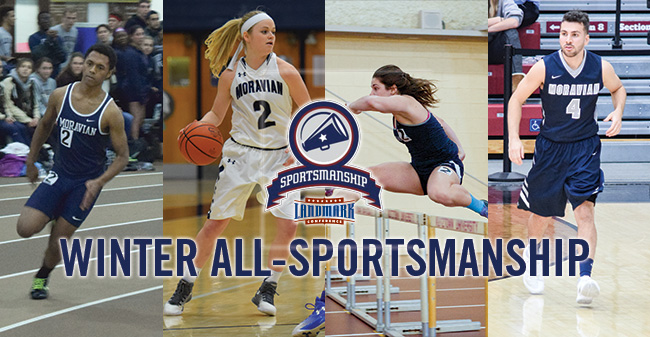 Four Hounds Named to 2017 Landmark Conference Winter All-Sportsmanship Team