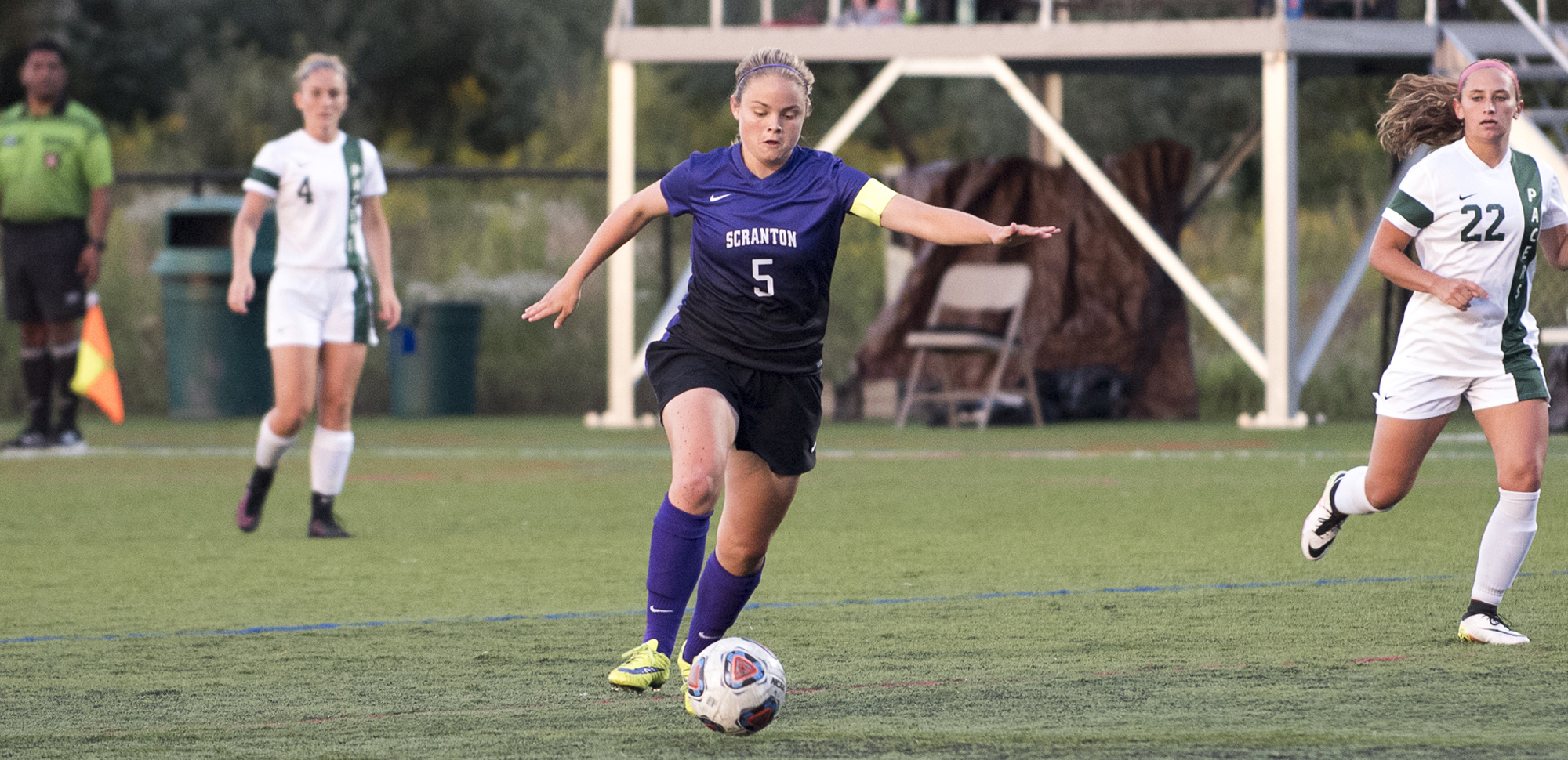 Senior Hannah DeMars scored the first goal of the 2017 season for the Royals in the 11th minute, as Scranton blanked Stockton, 3-0, on Friday at the Cougar Classic.