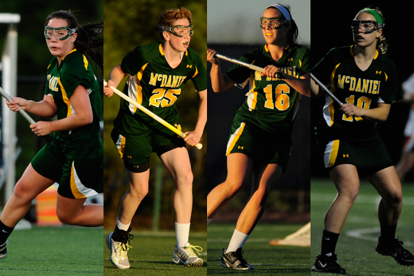 Steph Nichols, Chelsea Watkins, Paige Messersmith, Kerry Campbell � 2012 David Sinclair/McDaniel College