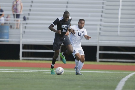 New York men's soccer team blanked again, falling to Keystone College by a score of 1-0 in La Plume, PA