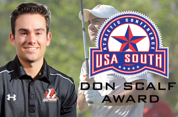 2016-17 Review/Golf: Lanier selected for 2017 USA South Don Scalf Award