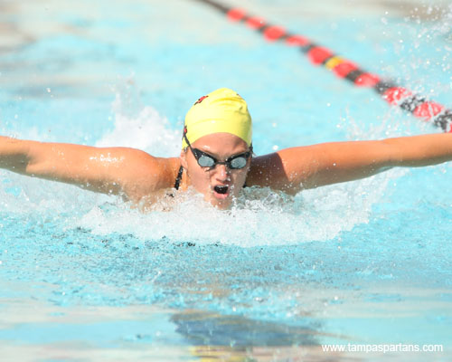 Hilary Stetekluh won the 100 Back and 100 Fly and was also a part of a first-place relay team.