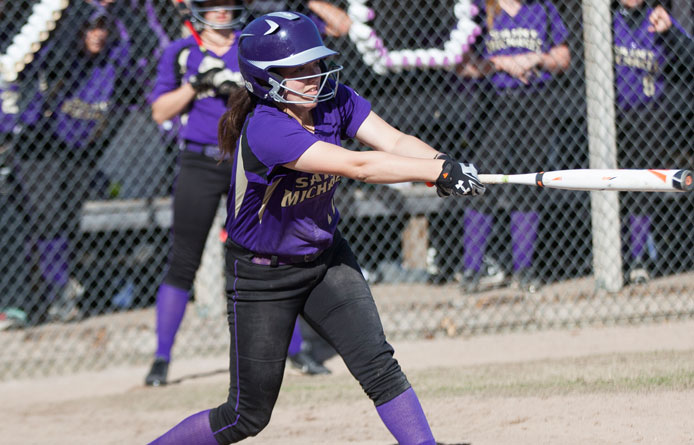 Barbato and Brazeau hit first college home runs, softball falls at Assumption