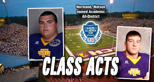 Normand, Watson earn CoSIDA Academic All-District honors