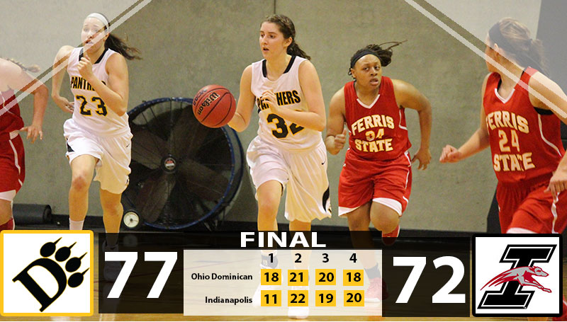 Rittinger, Scherpenberg Lead Panthers Past Greyhounds, 77-72