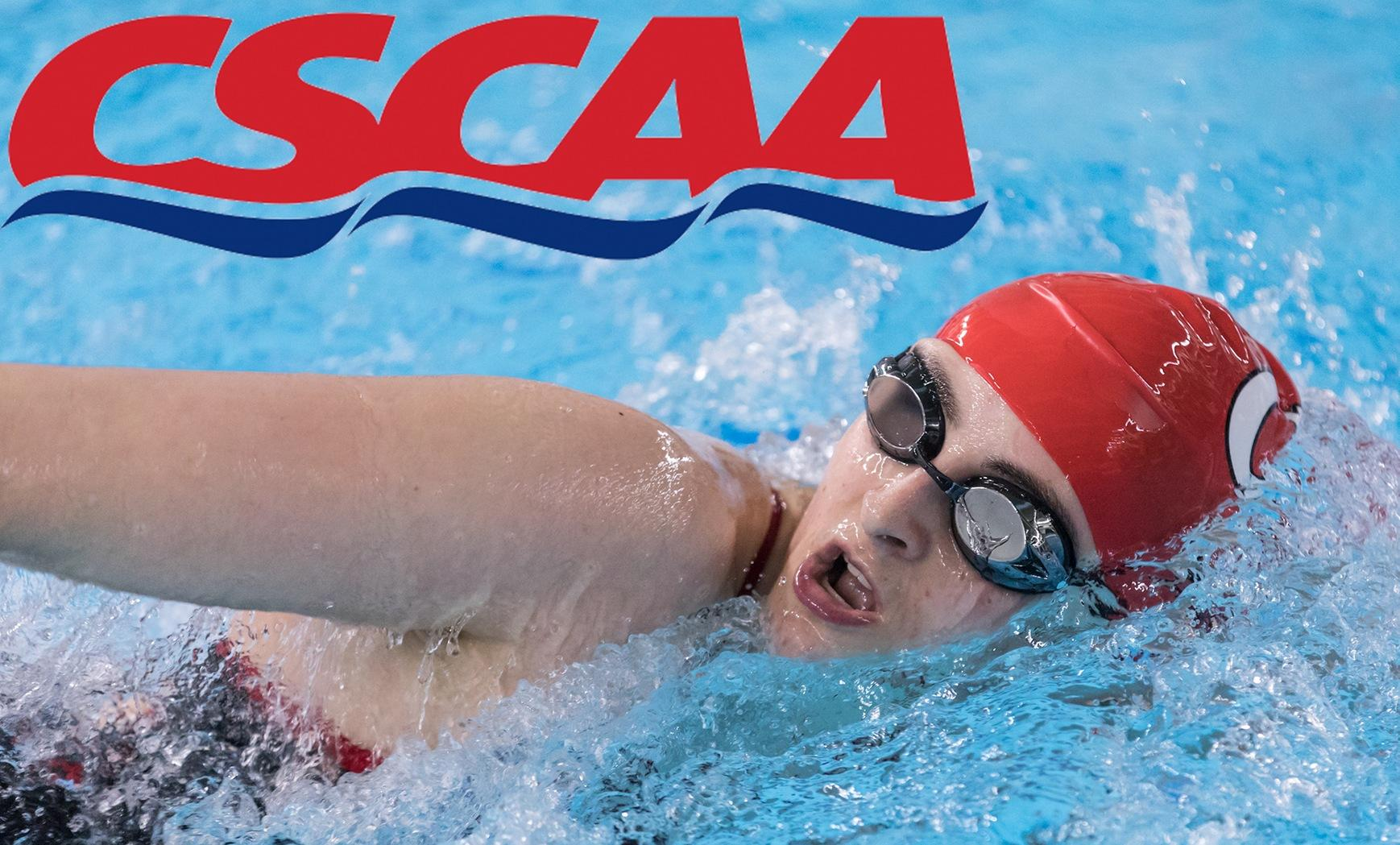 Swimming and Diving Named to CSCAA Scholar All-America Teams