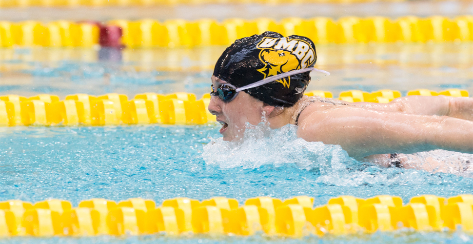 Escobedo, Wahby Lead UMBC Swimming and Diving Against Navy and George Mason
