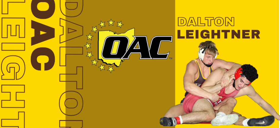 Leightner Named OAC Wrestler of the Week