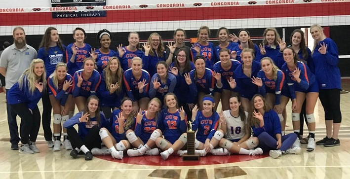 Women's Volleyball captures third-straight CIT title