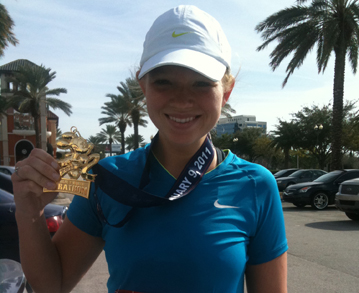 Elms Women's Cross Country Runner Jennifer Cicero Completes Her First-Ever Marathon