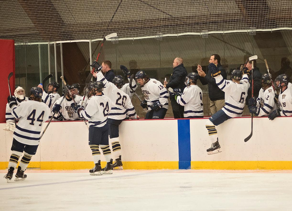 Hockey Beats Stonehill, 6-3, Wins Fourth Straight