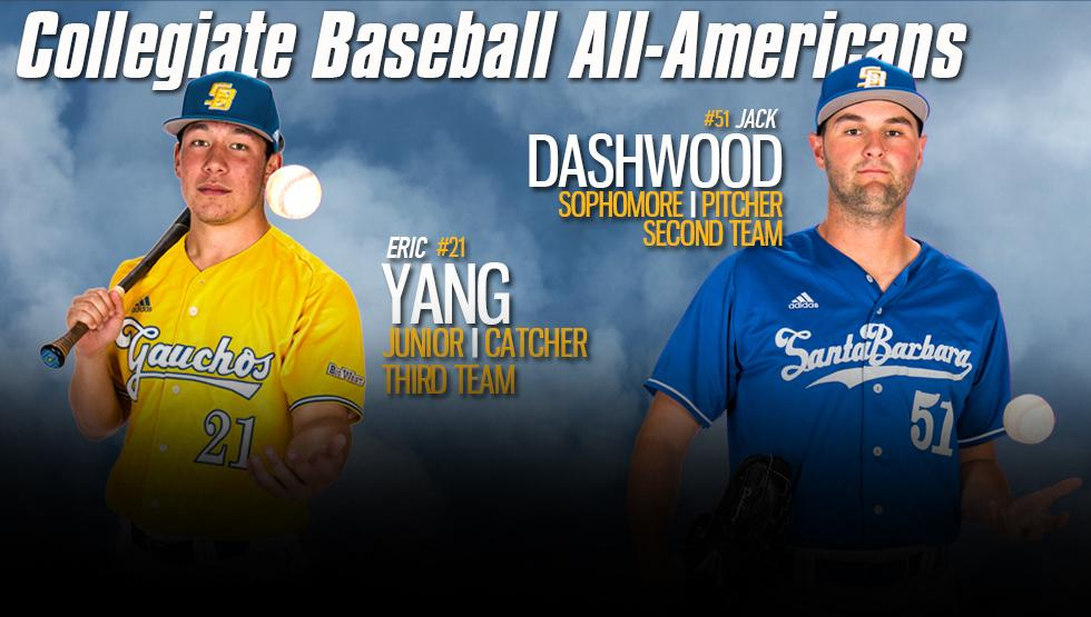 Gaucho Duo Selected to Collegiate Baseball All-American Teams
