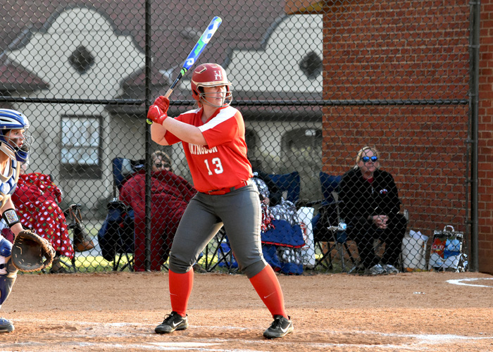 Samara Miller was 4-for-6 with an RBI and two runs in Sunday's doubleheader at Methodist. (Photo by Wesley Lyle)