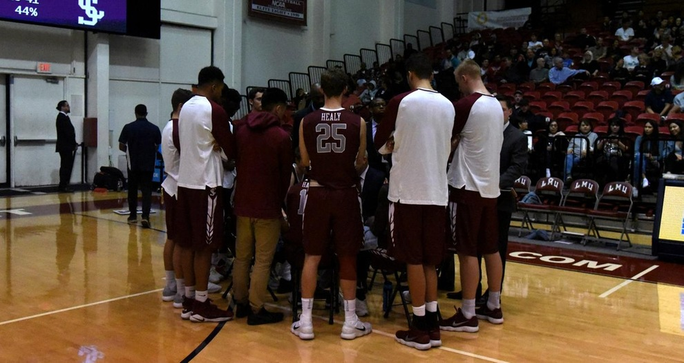 Men's Basketball Holds Off LMU, Picks Up Road Win