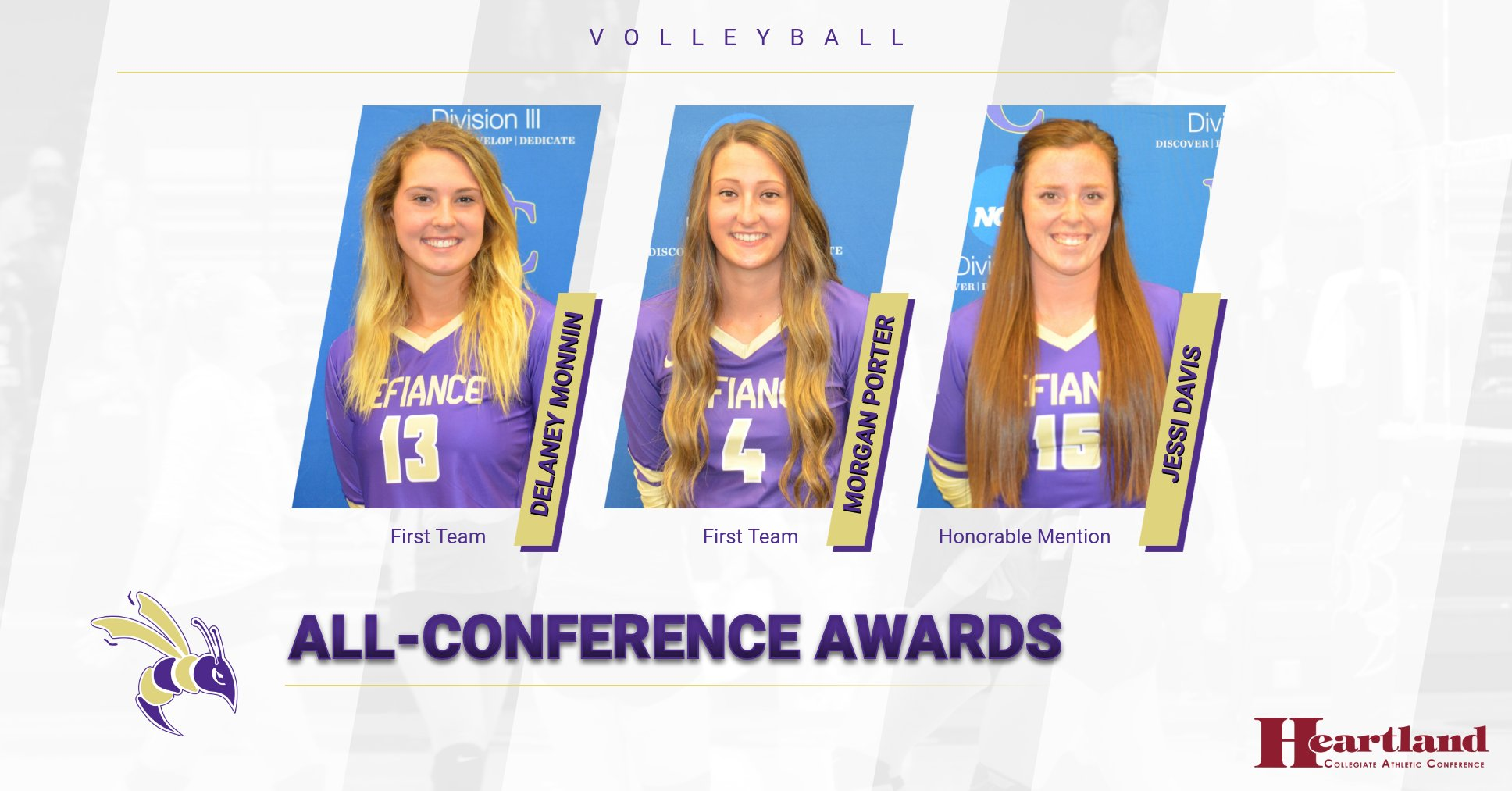 Porter, Monnin, and Davis earn All-HCAC honors
