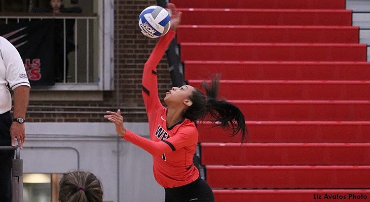 NEAC Split For Women's Volleyball At LBC