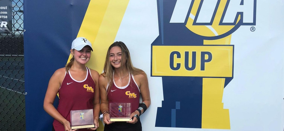 CMS Women's Tennis Doubles Team Ranked No. 1 in Nation by ITA