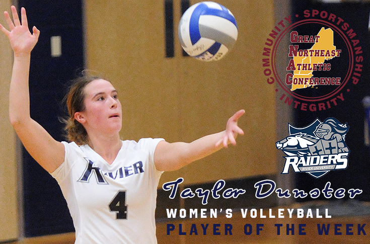 Women's Volleyball: Dunster named GNAC Player of the Week!