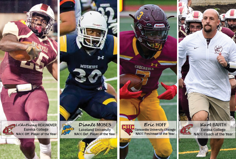 The Northern Athletics Collegiate Conference has announced its major awards and all-conference teams for the 2018 football season. All awards were voted upon by the league's coaches.