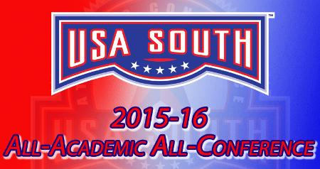 USA South Recently Announces 2015-16 All-Academic Team