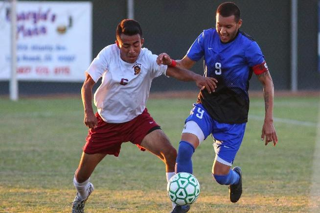 Alejandro Cocarrubias got the Falcons on the board first in their 4-0 win over Pasadena City