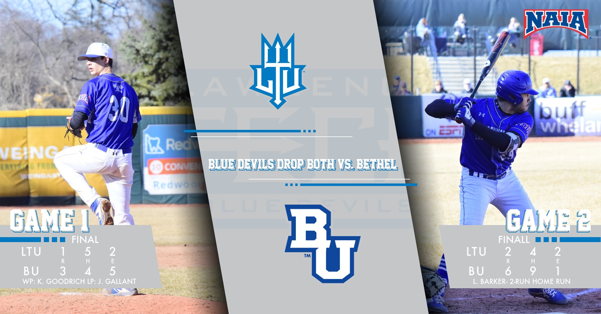 Blue Devils End Their Fall Season With Two Losses to Bethel (Ind.) University
