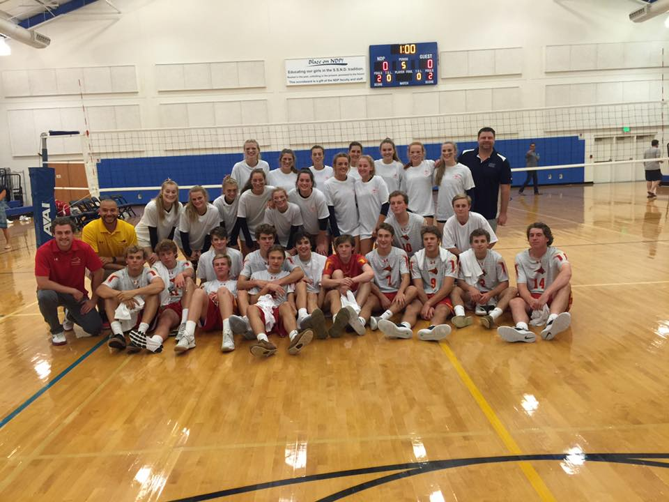 NDP and Calvert Hall volleyball teams square off in a fundraiser