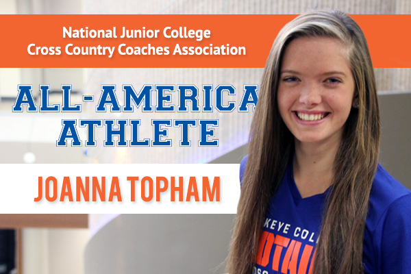 Joanna Topham Named All-America Runner by National Junior College Cross Country Coaches Association