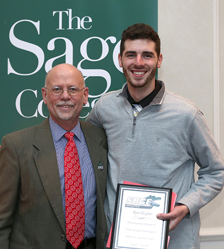 Gator of the Year status awarded to Ryan Guyton in men's volleyball