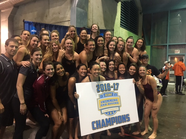 CMS Women Capture 2017 SCIAC Swimming & Diving Championship