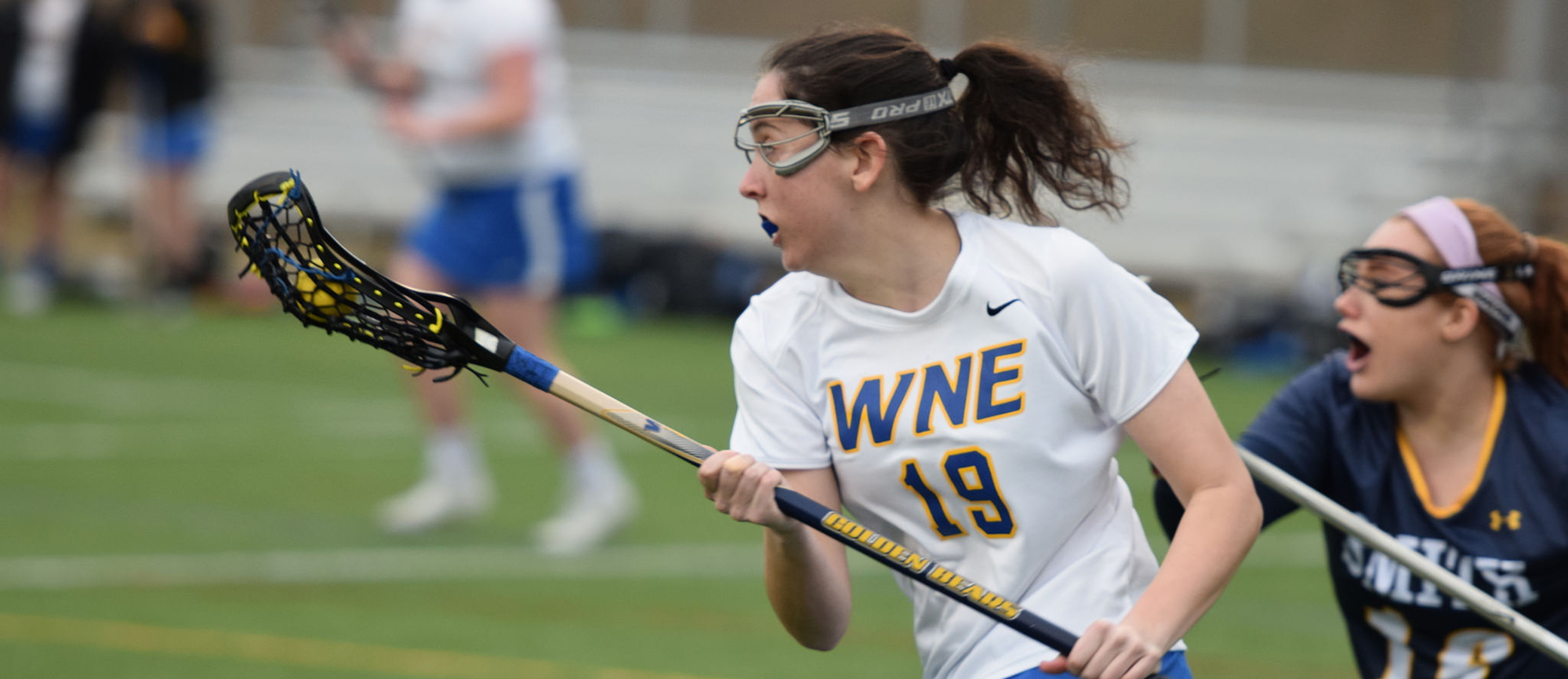 Kristen Breen scored three goals in Western New England's 13-12 loss to Smith on Thursday. (Photo by Rachael Margossian)