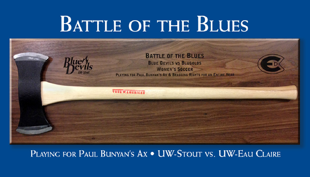 Blugolds and Blue Devils Soccer to Play for Paul Bunyan's Ax
