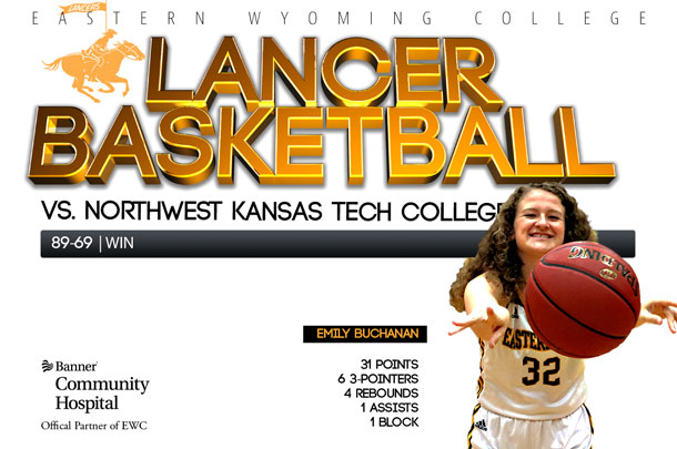 Eastern Wyoming College Lady Lancer Basketball team vs. Northwest Kansas Technical College Basketball