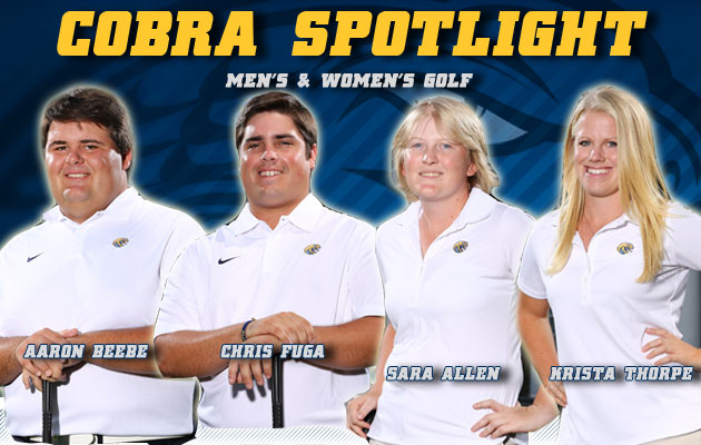 Cobra Spotlight- Aaron Beebe, Chris Fuga, Sara Allen & Krista Thorpe, Men's & Women's Golf