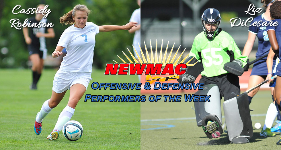 Two Garner NEWMAC Weekly Honors