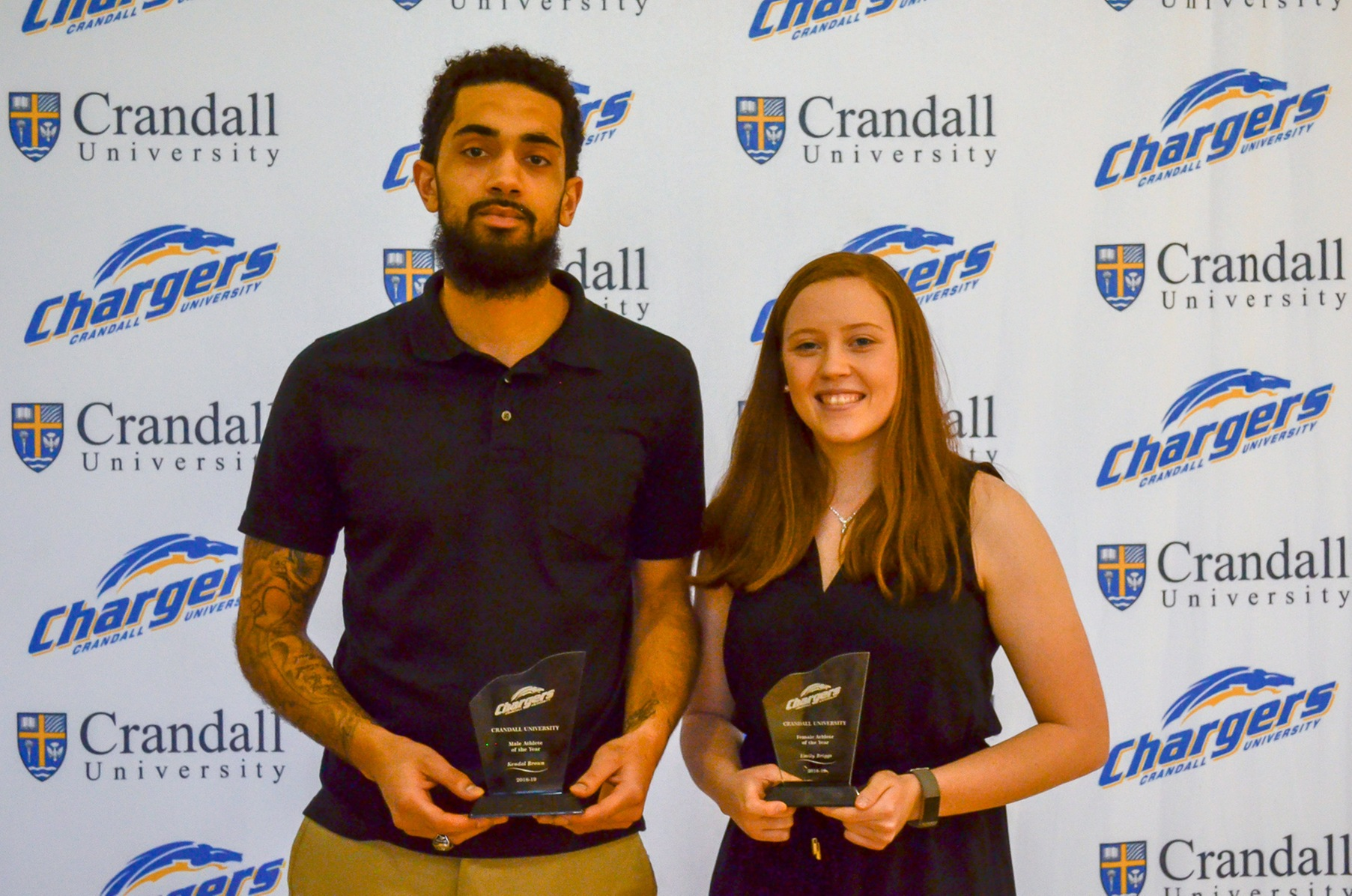 Chargers 2019 Athletes of the Year: Kendal Brown (left) and Emily Briggs (right)