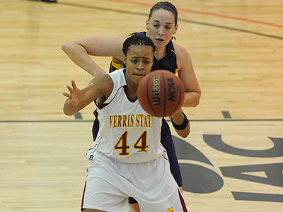 FSU's Tiara Adams battles for the ball against Ashland (Photo by Ed Hyde)