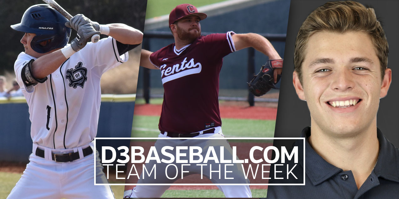 Three from SCAC Named to Initial D3Baseball.com Team of the Week
