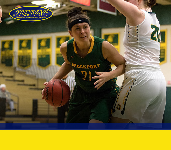 Johnson's double-double earns her SUNYAC Women's Basketball Athlete of the Week