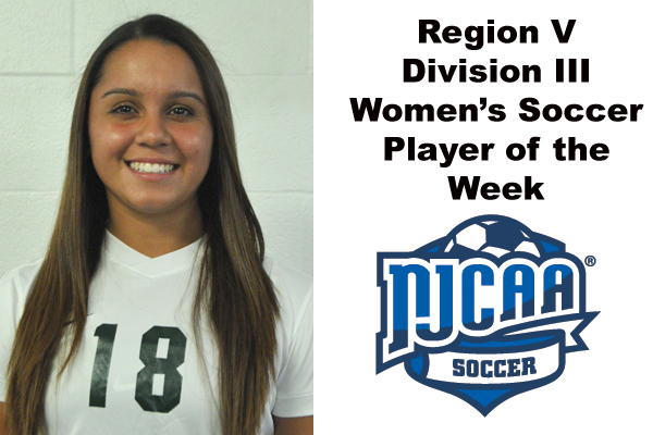 Region V Division III Women's Soccer Player of the Week (Oct. 15-21)