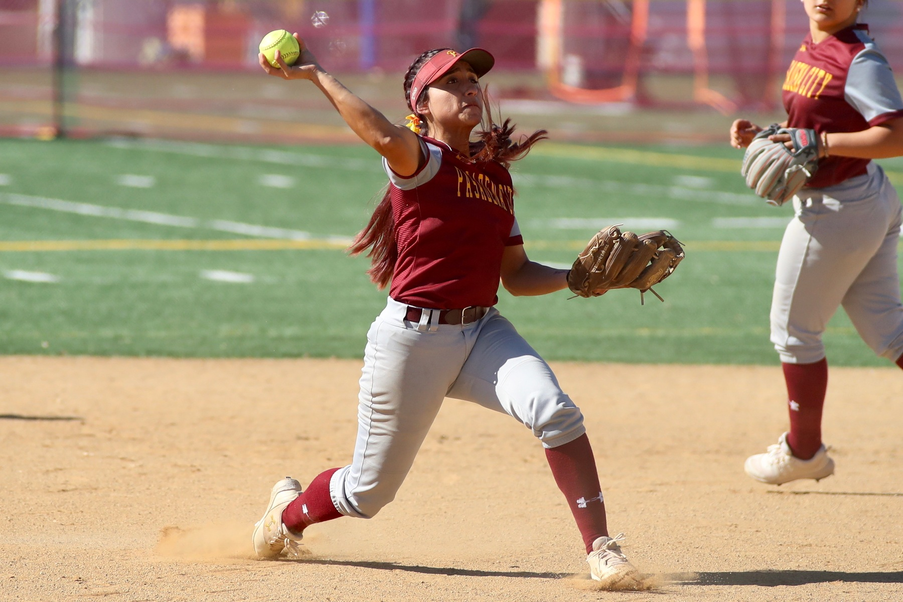 Lancer shortstop Danielle Ruiz in action in a recent home game, photo by Michael Watkins.