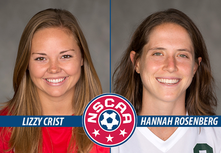 Lizzy Crist and Hannah Rosenberg of Washington University Honored as NSCAA Scholar All-America