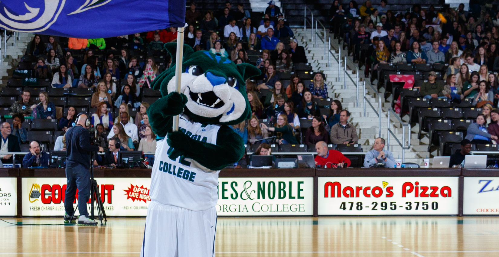 Thunder, the Bobcat Mascot