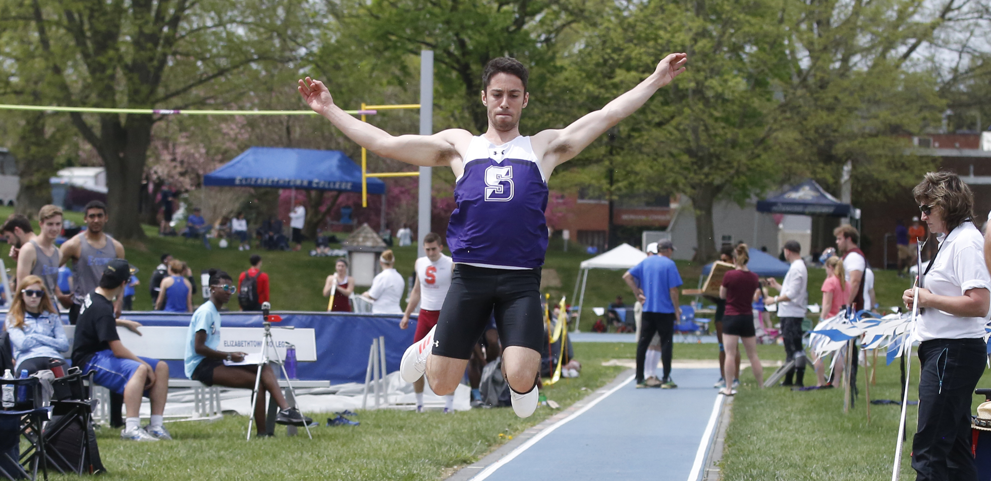 Senior Mark Merli was one of three Royals to win events on Saturday as Scranton opened its outdoor season at West Chester.