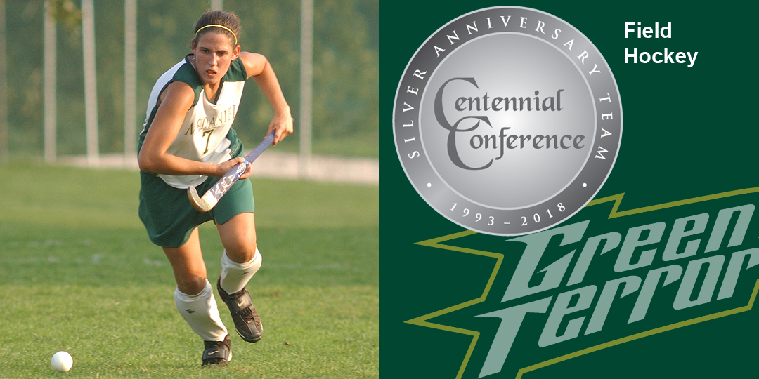 Kim Camponelli makes the Centennial Conference Silver Anniversary Team for field hockey.