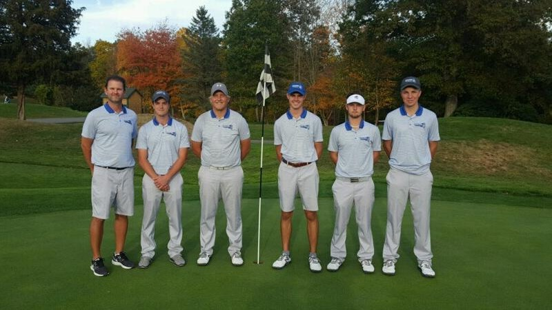 Men's Golf Tops Bryant and Holy Cross in Tri-Match on Saturday and Sunday
