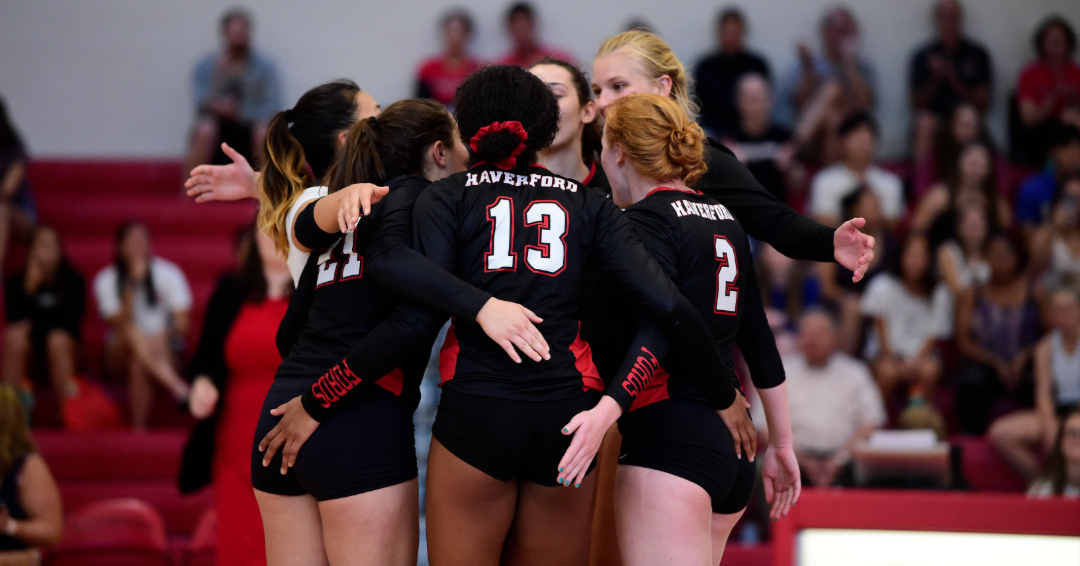 Volleyball Upended by Swarthmore in CC First Round, 3-1