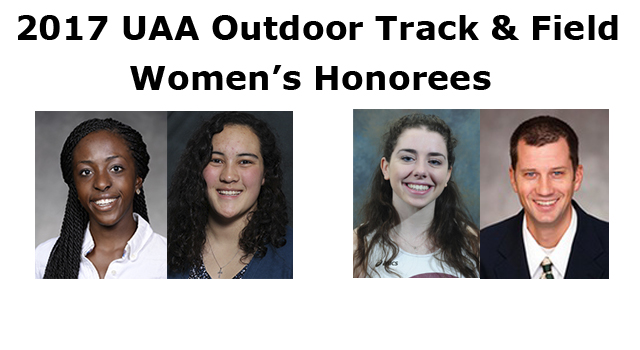 UAA Announces 2017 Women's Outdoor Track & Field Championship Awards